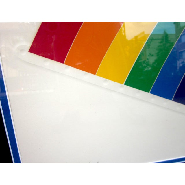 "1970s Vintage Werner Pfeiffer ""Tired Rainbow"" Limited Edition Signed Serigraph Print For Sale In Chicago - Image 6 of 11"