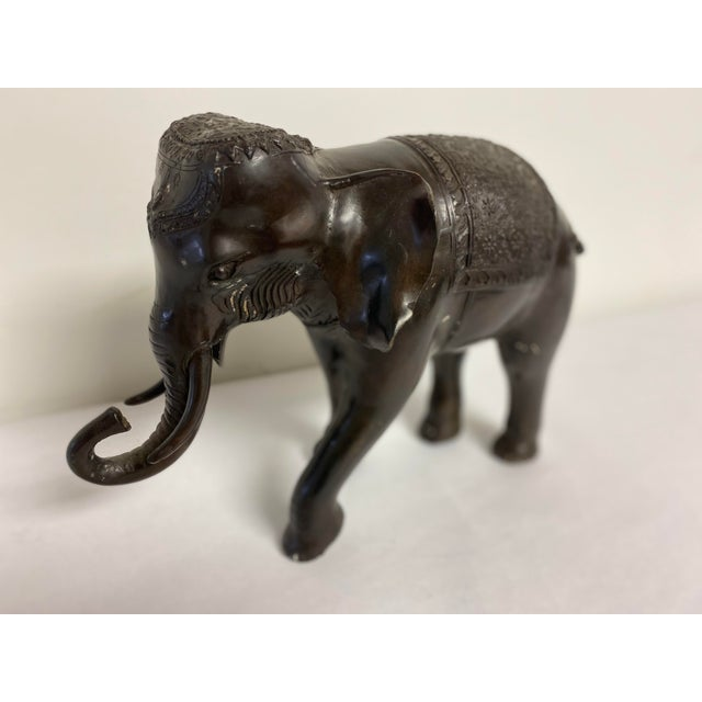 This 21st century Decorative Ornate Bronze Elephant is most likely from Thailand but not marked.