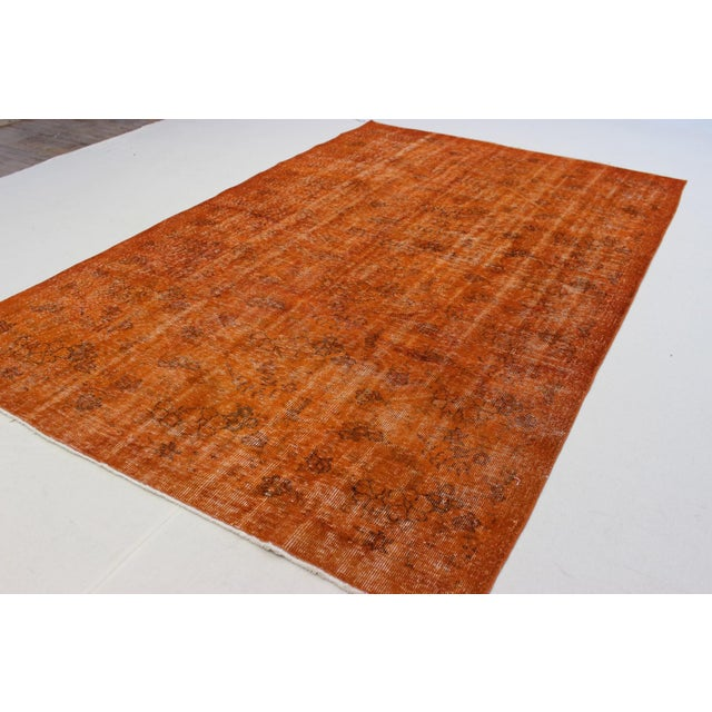 Vintage Overdyed Turkish Rug - 5′9″ × 9′ - Image 5 of 6
