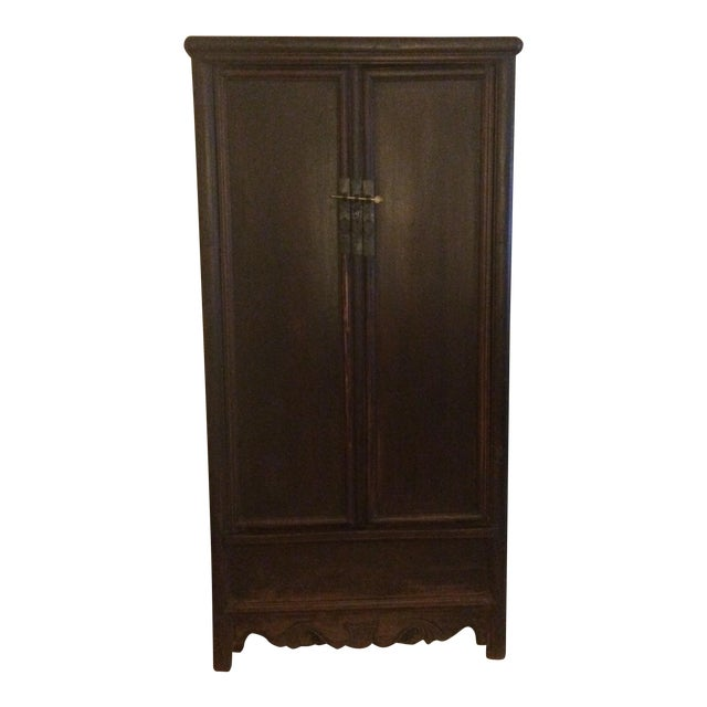 Antique Wooden Chinese Armoire For Sale