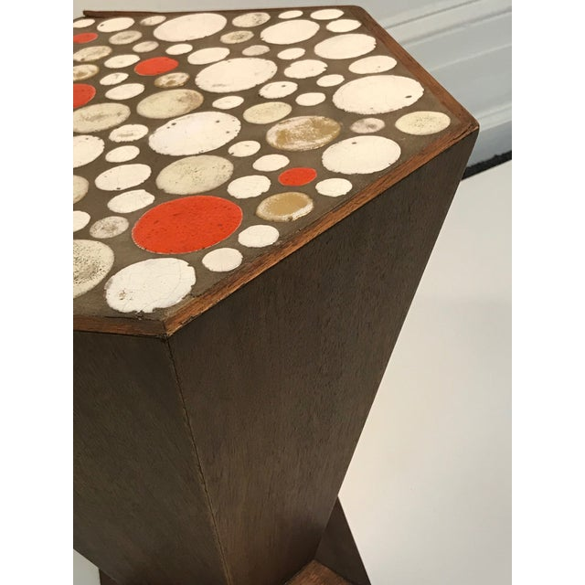 Unusual Tile Accent Table with Beautiful Colored Tile For Sale - Image 4 of 6