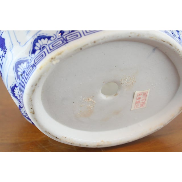 Mid 20th Century Vintage Mid Century Floral Chinese Planter For Sale - Image 5 of 8