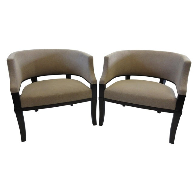 Christian Liaigre for Holly Hunt Club Chairs - a Pair For Sale - Image 13 of 13