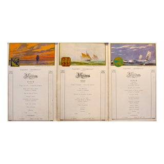 1930s French First Class Menu Cards For Sale