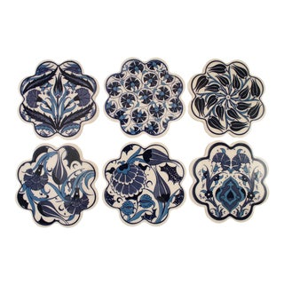 Ceramic Blue Floral Coasters
