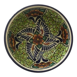 Vintage Mexican Talavera Pottery Bowl For Sale