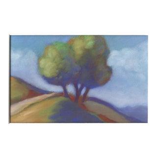 Crockett Hillside Pastel Drawing For Sale