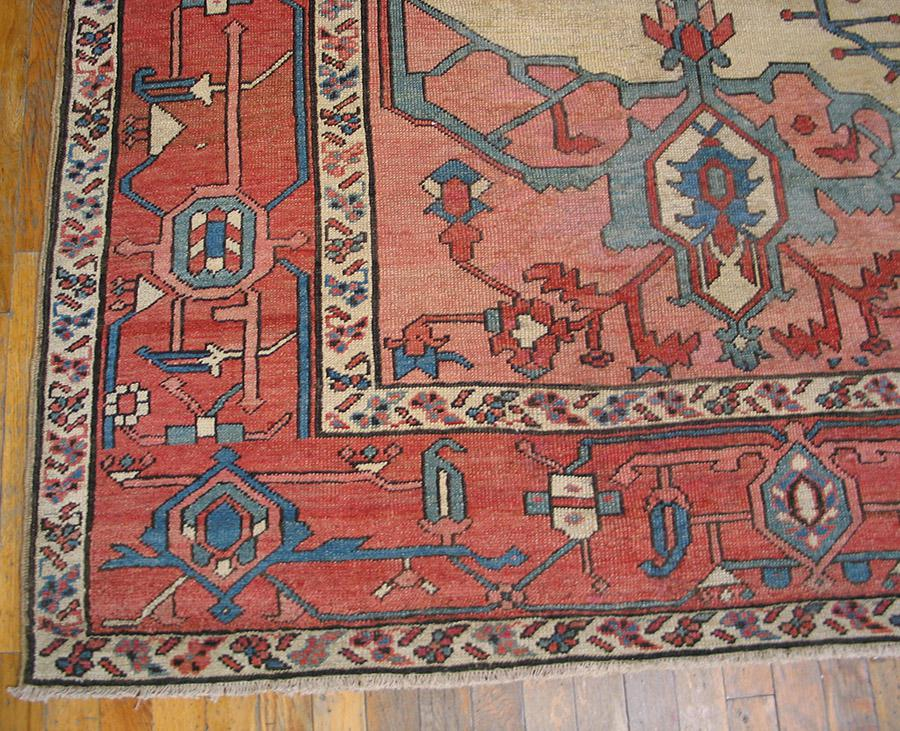 Late 19th Century Antique Serapi Rug 9 4 11 6 Chairish