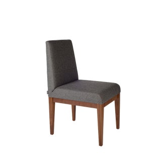 Brent Walnut Dining Chair For Sale