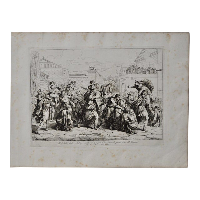 "Bartolomeo Pinelli Engraving ""The Sabine Rats Under the Rein of Romulus"" c.1816 - Image 1 of 8"