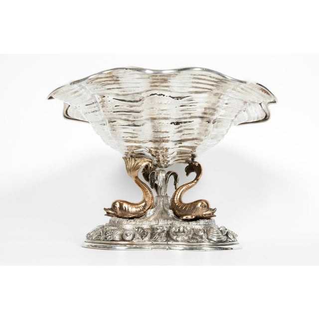 Art Nouveau Large Antique Sterling Silver Centerpiece For Sale - Image 3 of 13