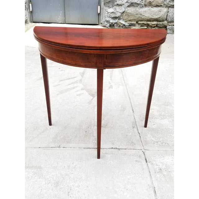 Antique Rosewood Hepplewhite Card Table For Sale - Image 13 of 13