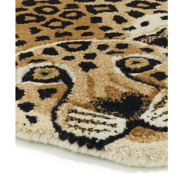 Shabby Chic Doing Goods Loony Leopard Rug Large For Sale - Image 3 of 6