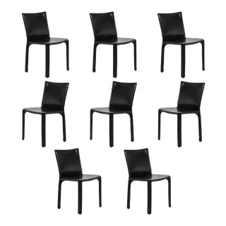 Set of Mario Bellini Model 412 Cab Chairs by Cassina