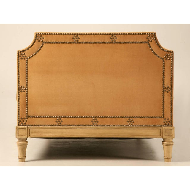 2010s Custom Old Plank Upholstered Daybed For Sale - Image 5 of 9