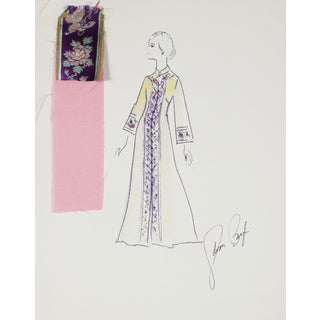 Fashion Illustration by Gibson Bayh, 1950s For Sale