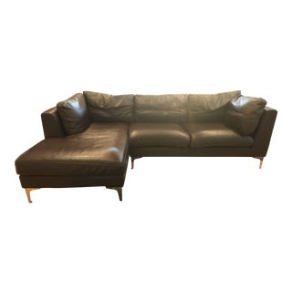 Design Within Reach Brown Leather Sectional