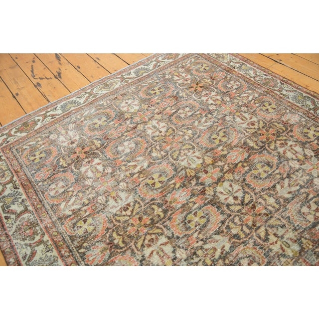 "Islamic Vintage Distressed Mahal Carpet - 5'5"" X 10' For Sale - Image 3 of 13"