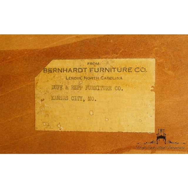 20th Century Traditional Bernhardt Furniture Duncan Phyfe Mahogany China Cabinet For Sale - Image 9 of 11