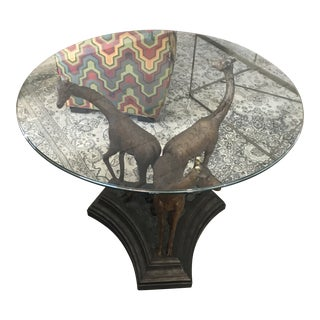 Giraffe Glass Top Table For Sale