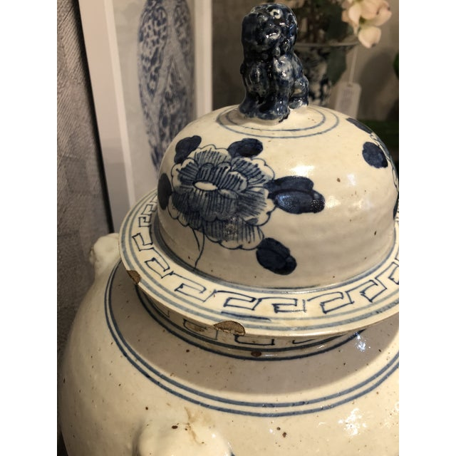 Kenneth Ludwig Chicago Blue & White Bird Ginger Jar For Sale In Chicago - Image 6 of 7