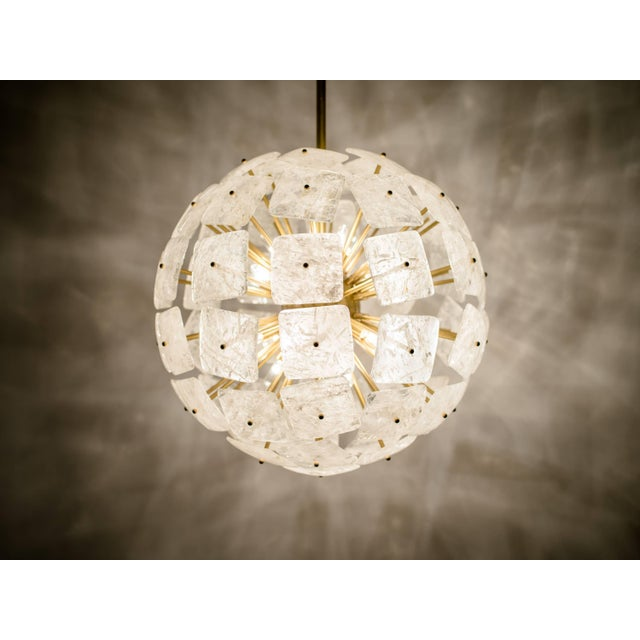 "Metal Large Sputnik Rock Crystal Chandelier ""Nova"", Limited Edition For Sale - Image 7 of 10"