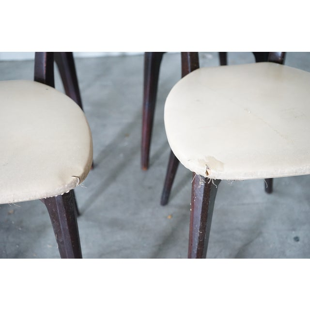 Wood Vintage Italian Dining Chair by Designer Gio Ponti, Sold as a Set For Sale - Image 7 of 9