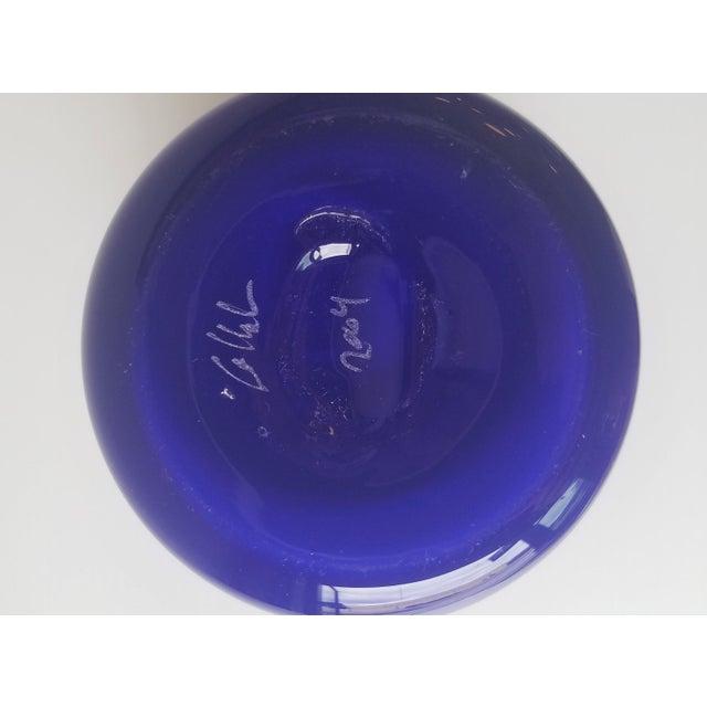 Steve Gibbs Blown Glass Vase for Corning Museum of Glass For Sale - Image 11 of 13