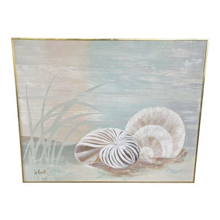 Vintage Coastal Lee Reynolds Shell Painting For Sale