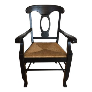 Modern Pottery Barn Napoleon Arm Chair For Sale