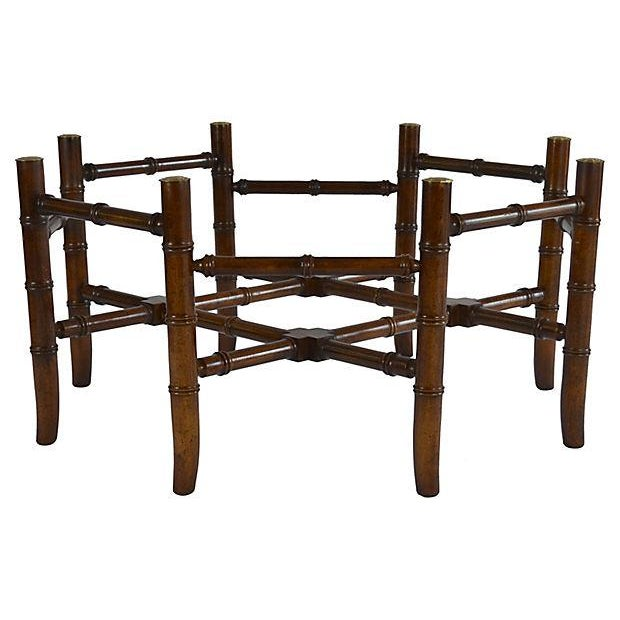 Brass Bamboo-Style Tray Coffee Table - Image 4 of 5