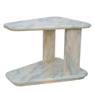 1970s Mid-Century Modern Goatskin Side Table For Sale