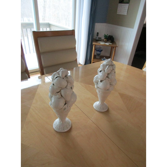 Italian Italian Style Fruit Topiary Candle Sticks - A Pair For Sale - Image 3 of 13