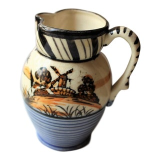 Vintage Windmill Scene Pitcher