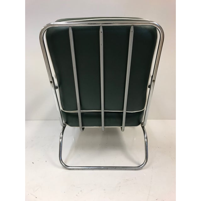 Lloyd Manufacturing Co. Pair of KEM Weber for Lloyd Tubular Chrome Lounge Chairs For Sale - Image 4 of 5