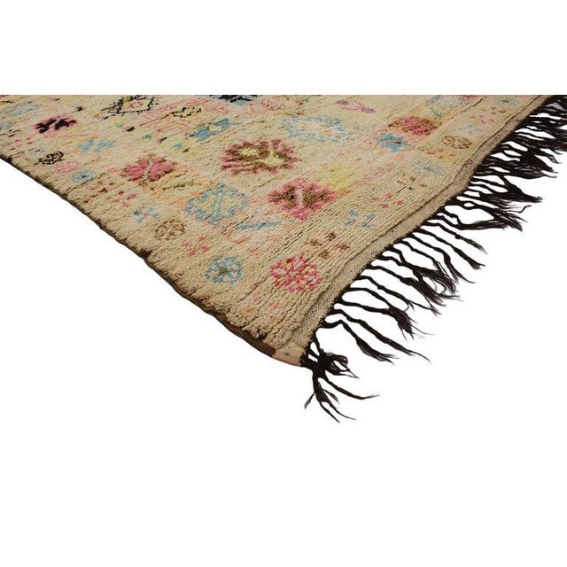 Boho Chic Vintage Berber Moroccan Rug With Bohemian Postmodern, 5'9 X 11'7 For Sale - Image 3 of 10