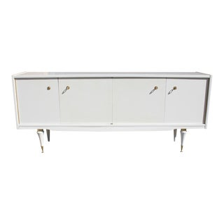Classic French Art Deco Mother-Of-Pearl Finish Sideboard / Buffet 1940s Vintage.