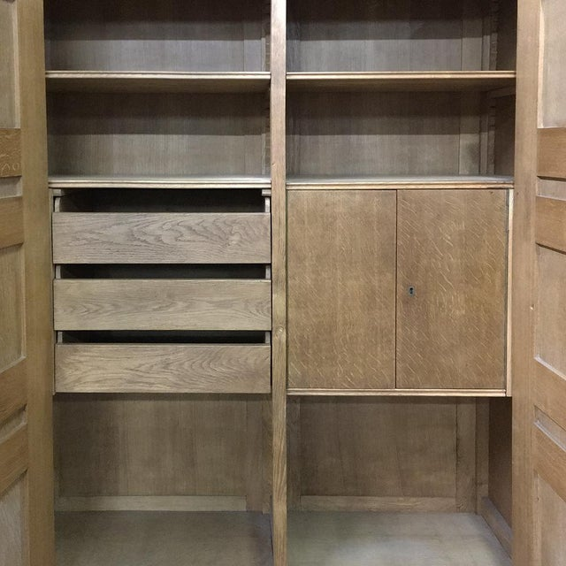 Mid-Century Modern Grand Oak Bookcase For Sale In Dallas - Image 6 of 11