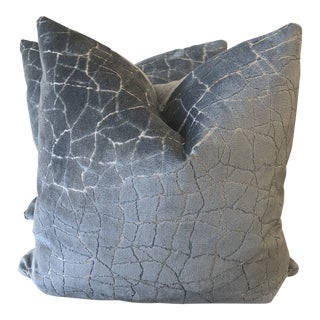 "Kravet Couture ""Formation"" in Sea 22"" Pillows-A Pair For Sale"