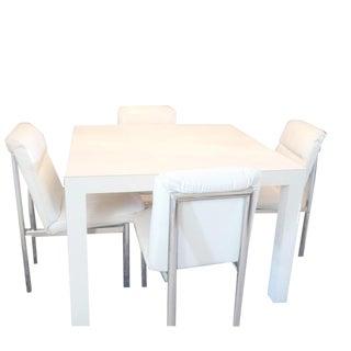 1970sMid Century Modern Milo Baughman Dining Room Set - 5 Pieces For Sale