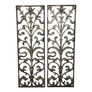 Early 20th Century Iron Architectural Panels - a Pair For Sale