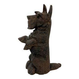 Vintage Cast Iron Scotty Dog Doorstop For Sale
