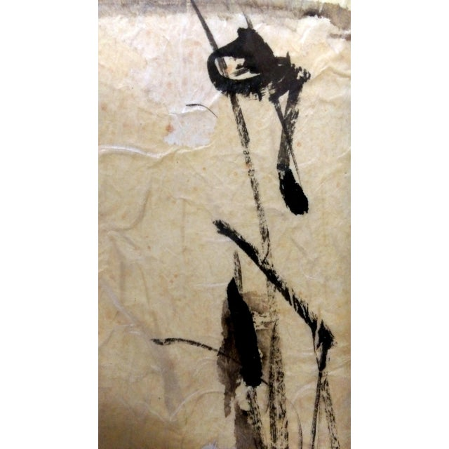 Asian Waterbird Ink & Watercolor Diptych - A Pair - Image 9 of 10