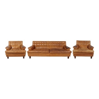 Arne Norell Merkur Sofa & Matching Lounge Chairs - Set of 3 For Sale