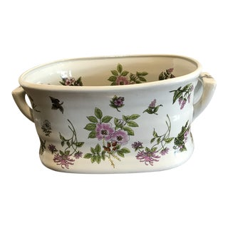 Chinoiserie Floral Foot Bath Planter