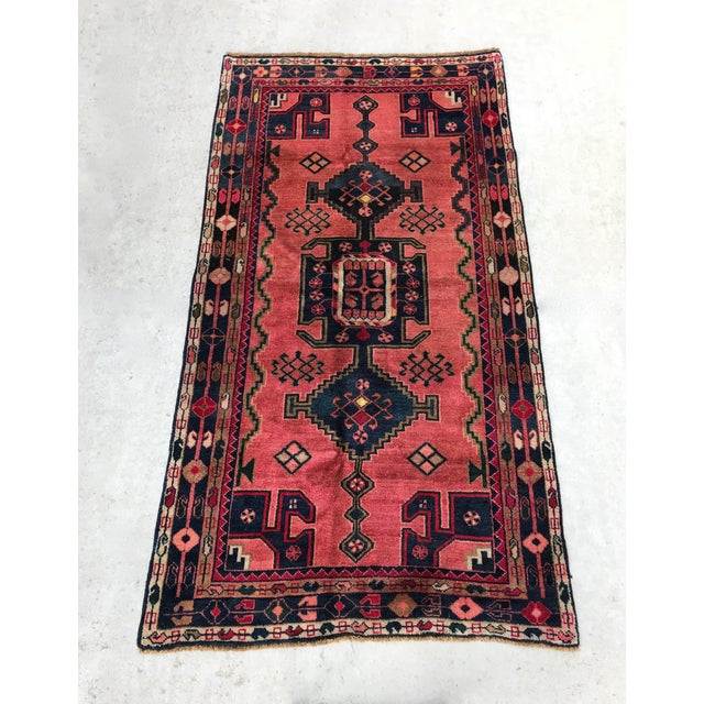 "Vintage Persian Rug - 4'4"" x 8' - Image 4 of 7"