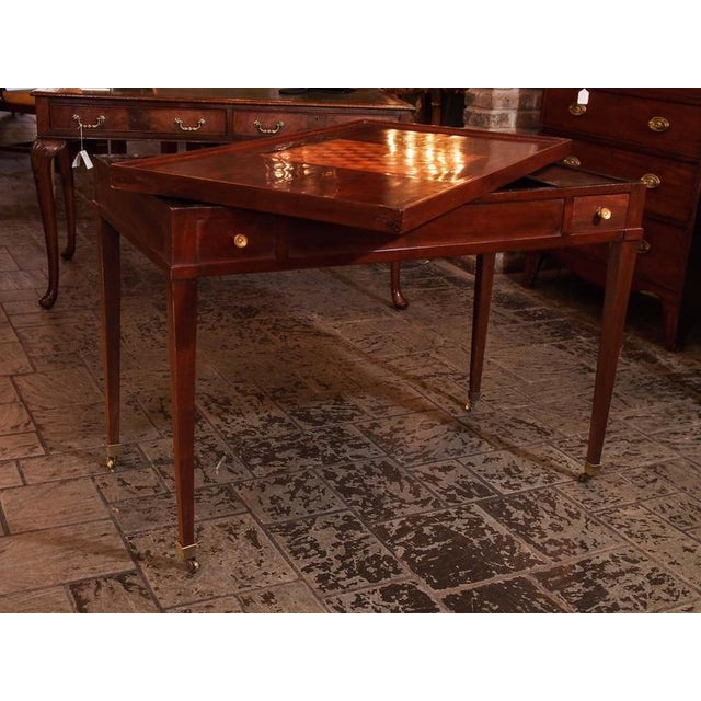 Antique French Mahogany Games Table - Image 7 of 8