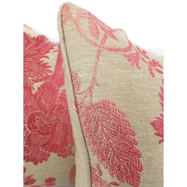Traditional Nina Campbell for Osborne Little Amazonas Self-Welt Backed Casamance Pillow Cover For Sale - Image 3 of 7
