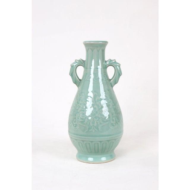 Vintage Celadon Pear Shaped Porcelain Vase For Sale - Image 13 of 13