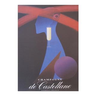 Original French Alain Gauthier Champagne Poster